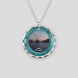Cabo-Porthole Necklace Circle Charm