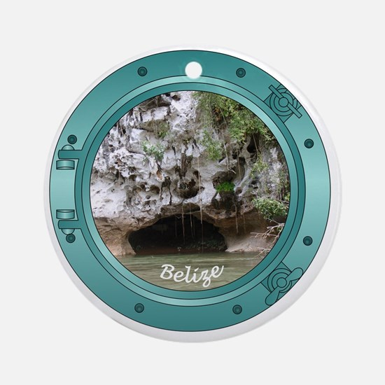 Belize-Porthole Round Ornament