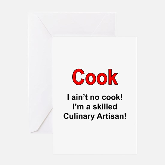 Cook Culinary Artisan Greeting Card