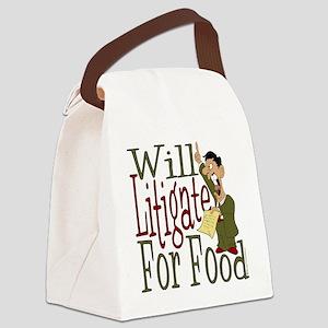Will Litigate Canvas Lunch Bag