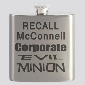 McConnell Corporate Evil Minion bk T Shirt Flask