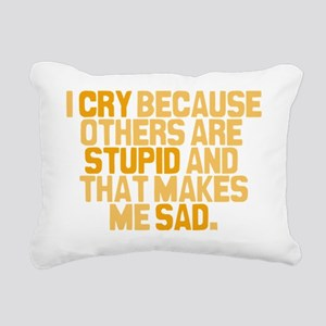 others-are-stupid Rectangular Canvas Pillow