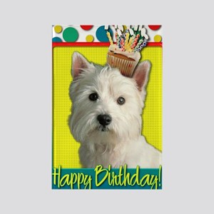 BirthdayCupcakeWestie Rectangle Magnet
