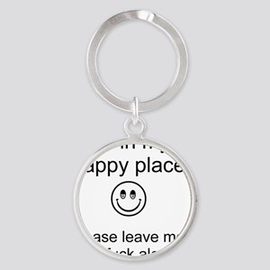 my happy place 1 Round Keychain