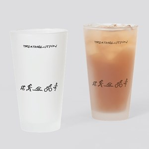 Evolution_Triathlution_lincenseplat Drinking Glass