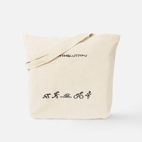 Evolution_Triathlution_lincenseplateholde Tote Bag
