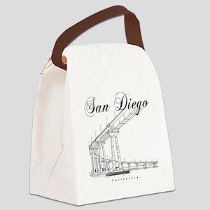 SanDiego_10x10_CoronadoBridge_Bla Canvas Lunch Bag