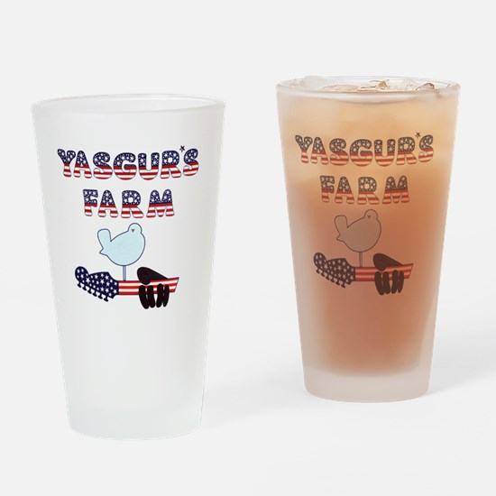 Patriotic Hendrix Logo copy.eps Drinking Glass