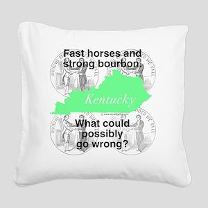 Kentucky Square Canvas Pillow