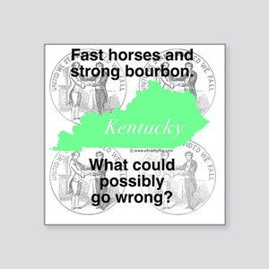 "Kentucky Square Sticker 3"" x 3"""
