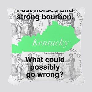 Kentucky Woven Throw Pillow