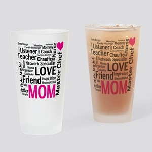 Mothers Day - Everything Mom Does! Drinking Glass