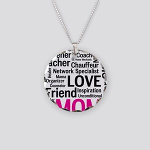 Mothers Day - Everything Mom Necklace Circle Charm