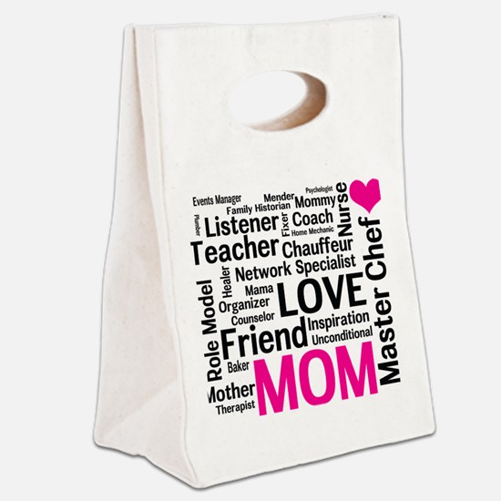 Mothers Day - Everything Mom Doe Canvas Lunch Tote