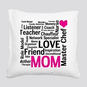 Mothers Day - Everything Mom  Square Canvas Pillow