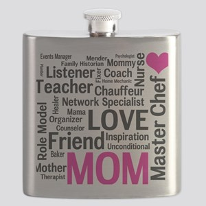 Mothers Day - Everything Mom Does! Flask