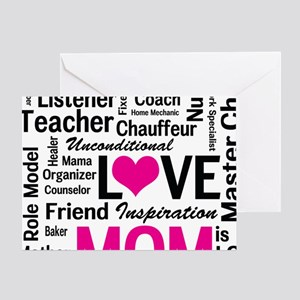 Mom is Love - Birthday, Mothers Day Greeting Card