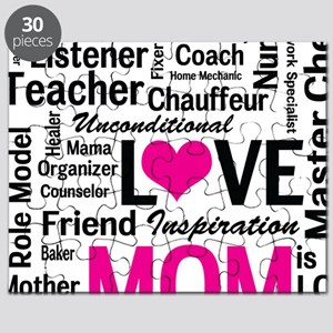 Mom is Love - Birthday, Mothers Day Puzzle