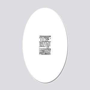 GoldenRule_3k 20x12 Oval Wall Decal