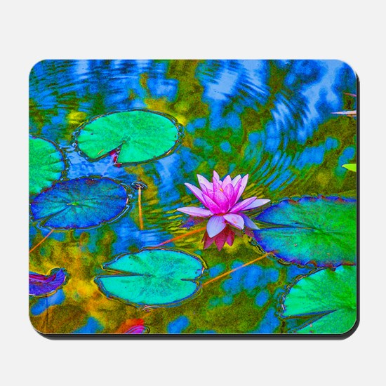 Lilypad Lotus Waterlily Bright Pink Mousepad