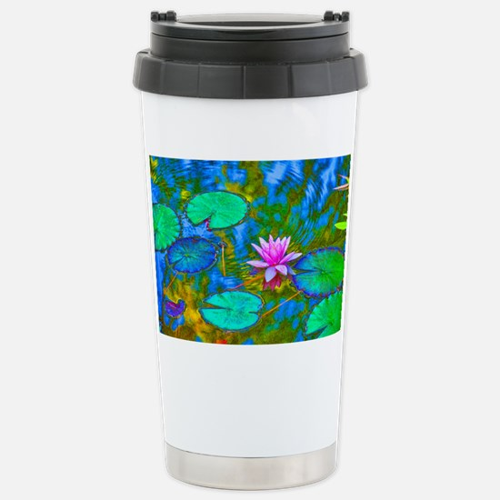 Lilypad Lotus Waterlily Bright  Stainless Steel Tr