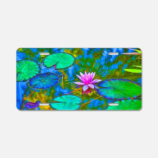 Lilypad Lotus Waterlily Bri Aluminum License Plate