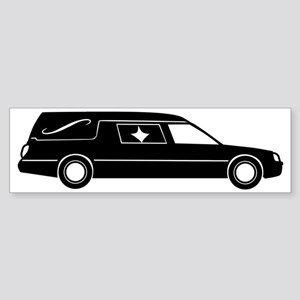 hearse_bw Sticker (Bumper)