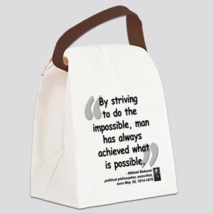 Bakunin Possible Quote Canvas Lunch Bag