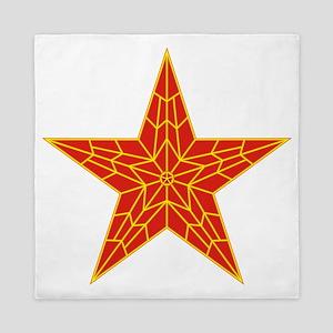 3300-red-kremlin-star Queen Duvet