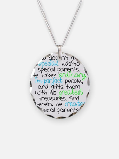 Special Parents white Boy Necklace