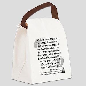 Jefferson Declaration Quote Canvas Lunch Bag