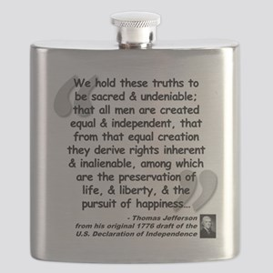 Jefferson Declaration Quote Flask