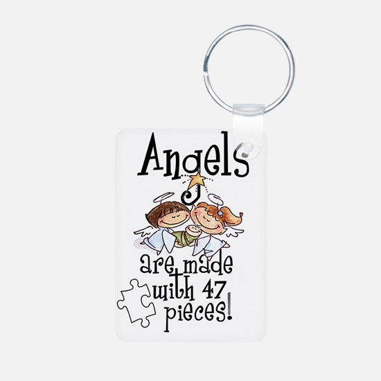 Awareness tee angels are m Aluminum Photo Keychain