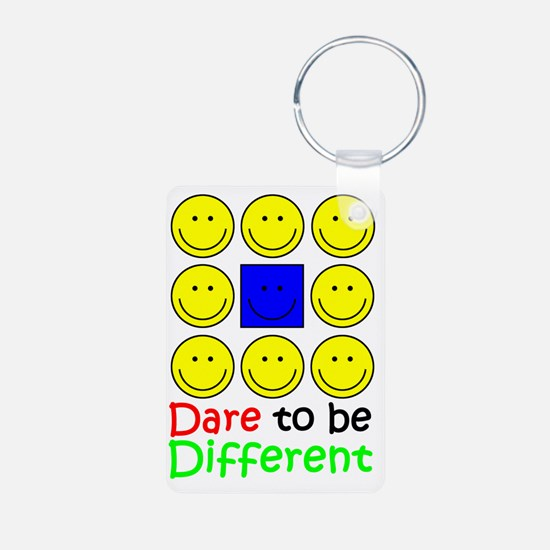 Awareness tee Dare to be D Aluminum Photo Keychain