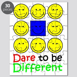 Awareness tee Dare to be Different copy cop Puzzle