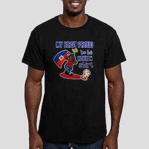 haitian Men's Fitted T-Shirt (dark)