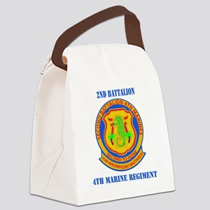 SSI-4TH MARINE RGT-2ND BN WITH TE Canvas Lunch Bag