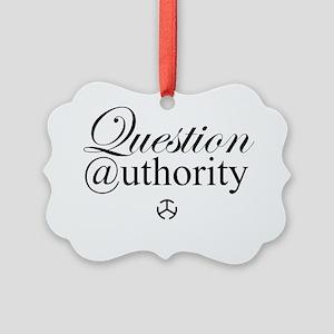 Question Authority Picture Ornament