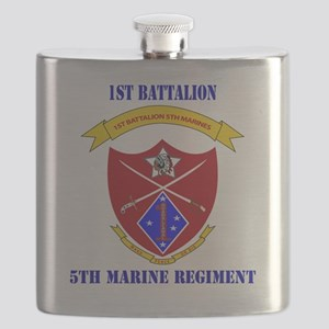 SSI-5TH MARINE RGT-1ST BN WITH TEXT Flask
