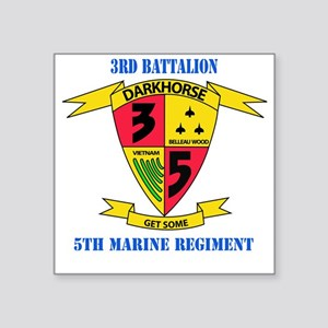 "SSI - 5TH MARINE RGT-3RD BN Square Sticker 3"" x 3"""