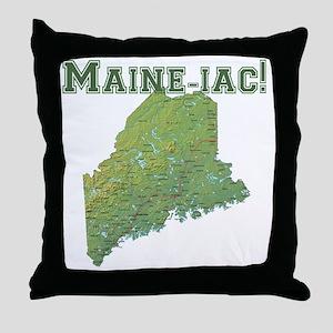 Main-e-ac Throw Pillow