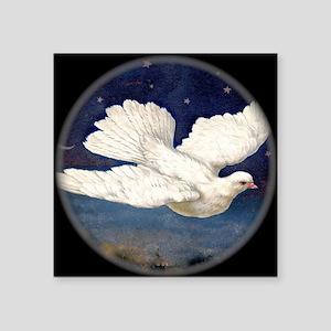 """Dove of Peace Square Sticker 3"""" x 3"""""""