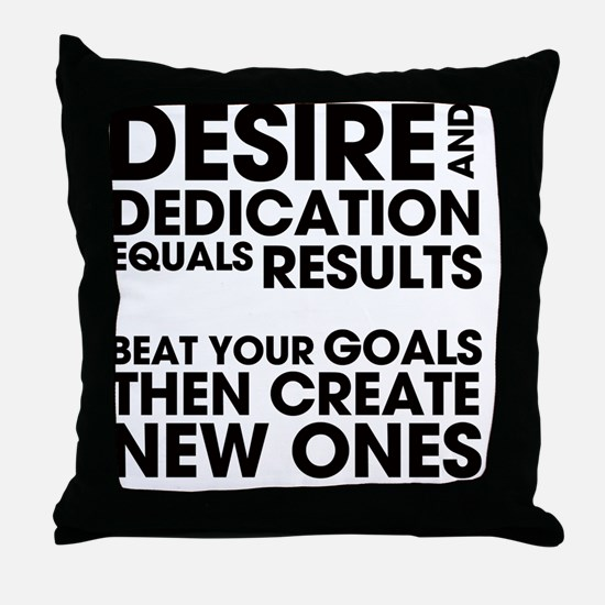 DESIRES-AND-DEDICATION Throw Pillow