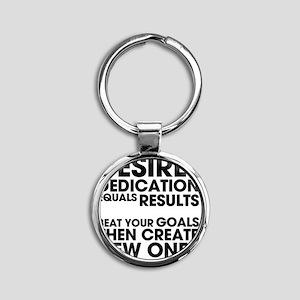 DESIRES-AND-DEDICATION Round Keychain