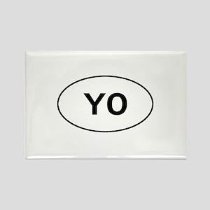 Knitting - YO - Yarn Over Rectangle Magnet