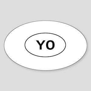 Knitting - YO - Yarn Over Oval Sticker