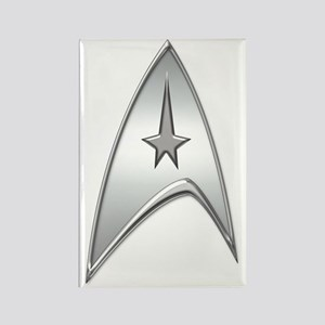 StarTrek Command Silver Signia Ch Rectangle Magnet