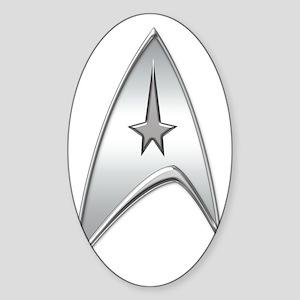 StarTrek Command Silver Signia Ches Sticker (Oval)