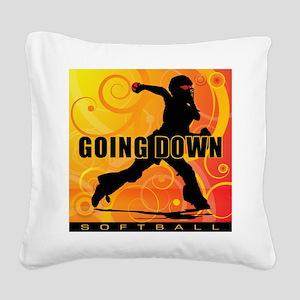 2011 Softball 25 Square Canvas Pillow