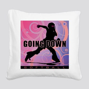 2011 Softball 26 Square Canvas Pillow